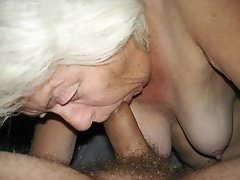 Old woman goes wild for young dude's cock